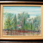 Jean Carzou Paysage 1960 watercolor on paper 19.5x25 inches
