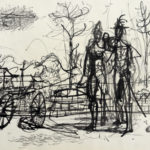 Jean Carzou, Drawing, 11.5x9 inches ink on paper 1949
