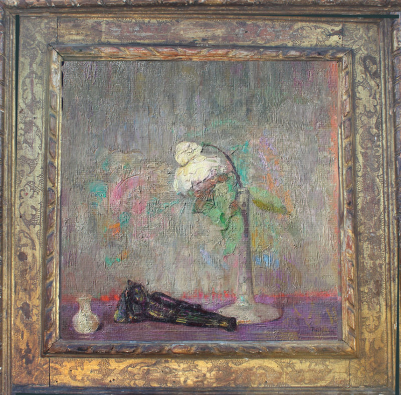 Hovsep Pushman, Repose-10.5x10.5-in oil on board with framed