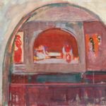 Minas Avetisyan, Minas , Making the breads, 24x16.5 inches,