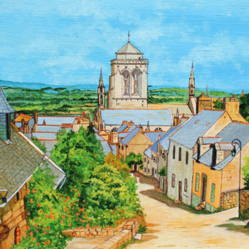 Louis Letouch, Lacronan, Finistere, 18x13 inches, oil on canvas board A503
