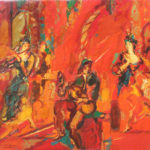 Robert Elibekian, Concerts, 25.5x19.5 in. oil on canvas