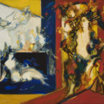 Robert Elibekian, Spectacle, 25.5x32 in, oil on canvas