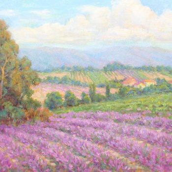Lynn Gerthenbach, Lavender fields forever, 24x36, oil on canvas fp