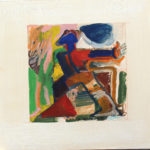Abstract Figure, 1971, 16x16 inches, acrylic on paper, signed lower right