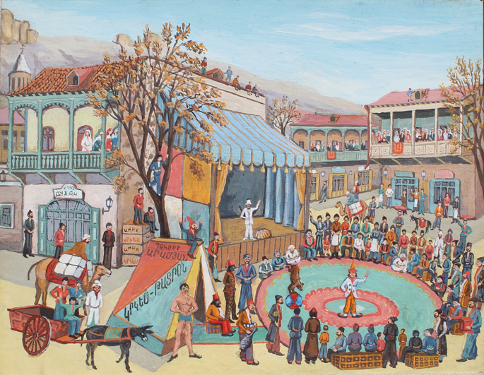 Vagharshak Elibekian, oil on board