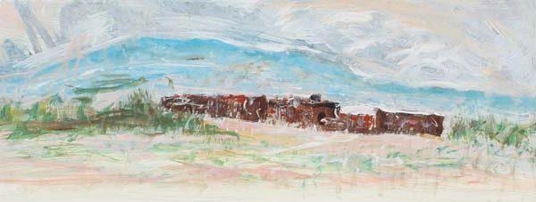 Arthur Pinajian, oil on paper