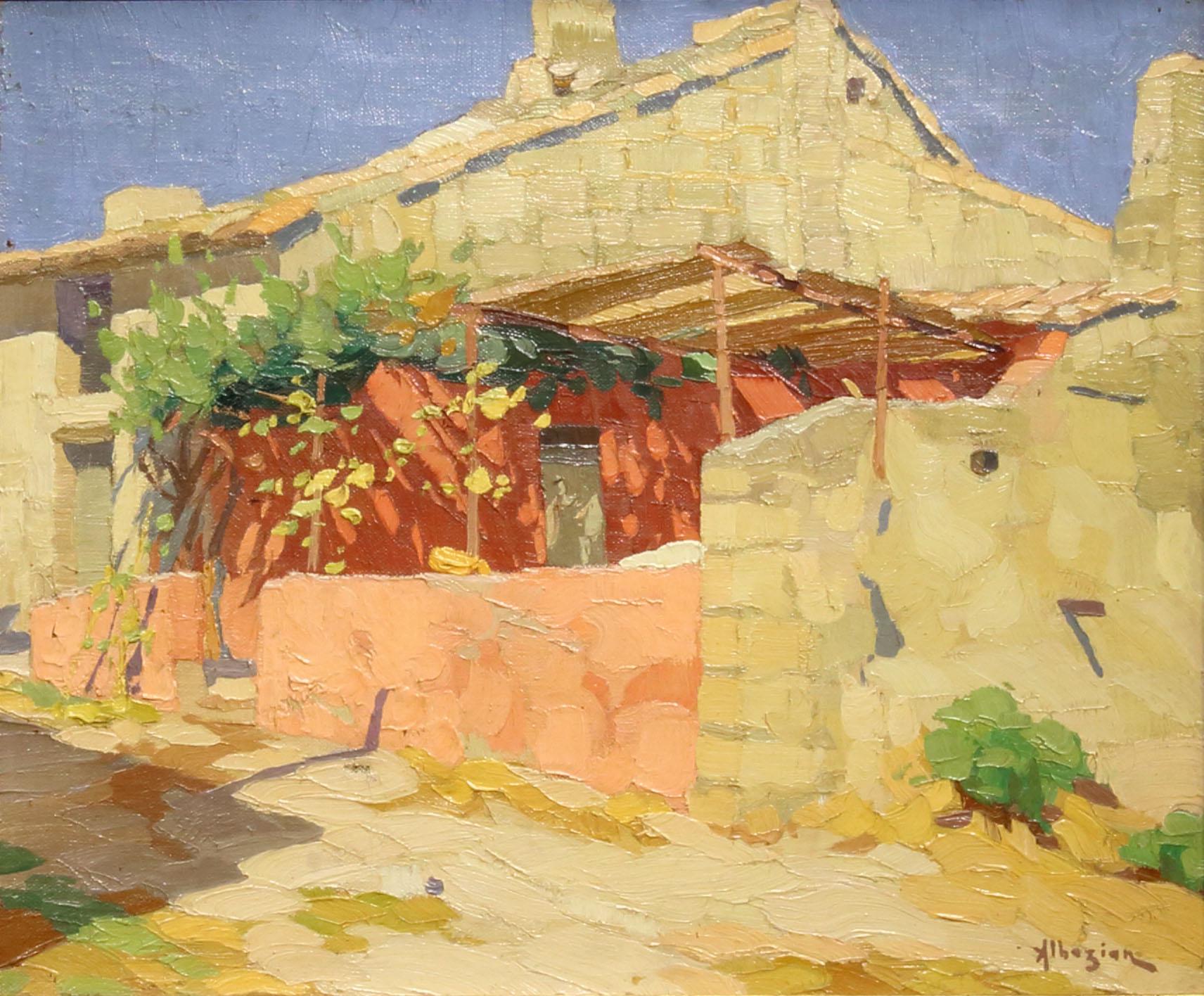 Ohannes Alhazian, La terrasse Ombragée, - Stephanie\'s Art Gallery