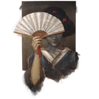 August Loretta Tearney Warner, Asian Woman With Fan, (2)