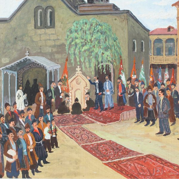 Vagharshak Elibekian, Opening ceremony of Sahat Nova 12.5x7.5 inches