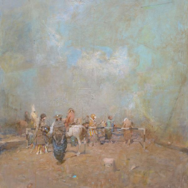 Vachagan Narazyan, The white horse, achagan, 30x40 inches , oil on canvas
