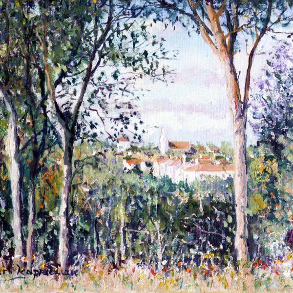 Yetvart Kaprileian, Village dEnneryId 27x22cm