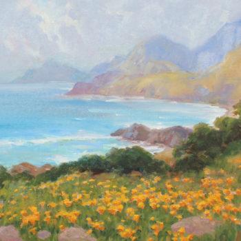 Lynn Gertenbach, 24x30, Spring in Big Sur, oil on canvas