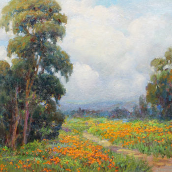 Lynn Gertenbach, Sundown in Poppy field, oil on canvas 24x30