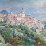 François Baboulet, Village des Pyrénées 21.5x13 in. , oil on canvas
