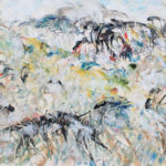 Arthur Pinajia. Untitled, No. 1199, 22x28 inches, oil on board, 1987