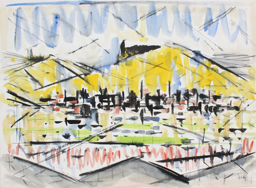Arthur Pinajian, No. 1937, 20x26 in, water color on pape, 1959