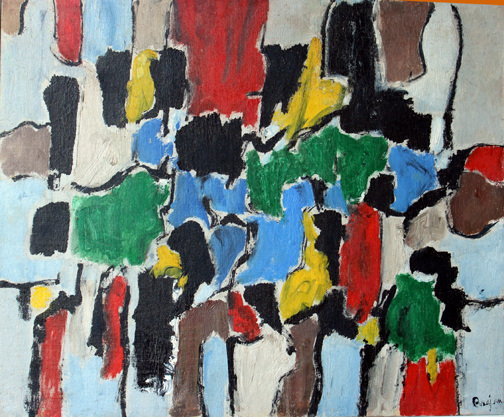 Arthur Pinajian. No. 203, Untitled, 26x31.5 in. , oil on canvas