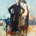 Jean Jansem-1960s , two women, oil on canvas