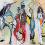 KOKO, String Quartet, 48x36, oil on canvas, stephanies gallery