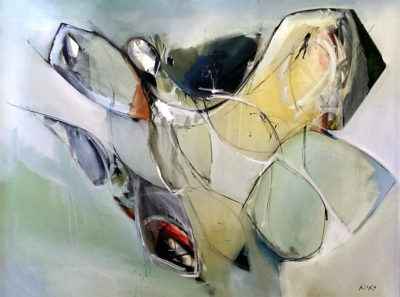 KOKO, Transverse Figure, 36x48 in, oil on canvas