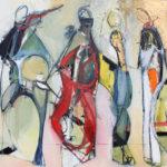 Koko, String Quartet, 36x48 in. oil on canvas ws