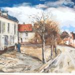 Maurice de Vlaminck, 19.5x22.5 in, Landscape,