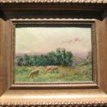 Sarkis Diranian, Les moutons au pâturage , 13×10 inches, oil on canvas.