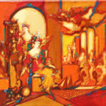 Robert Elibekian, Theater, 2002, 20x26 in, oil on canvas