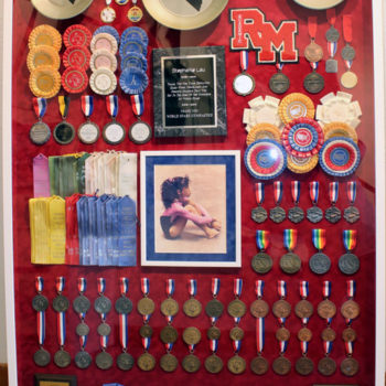 Shadow box for medal frames