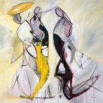 KOKO's oil painting on cavas. Title: Tenors Musicians Series