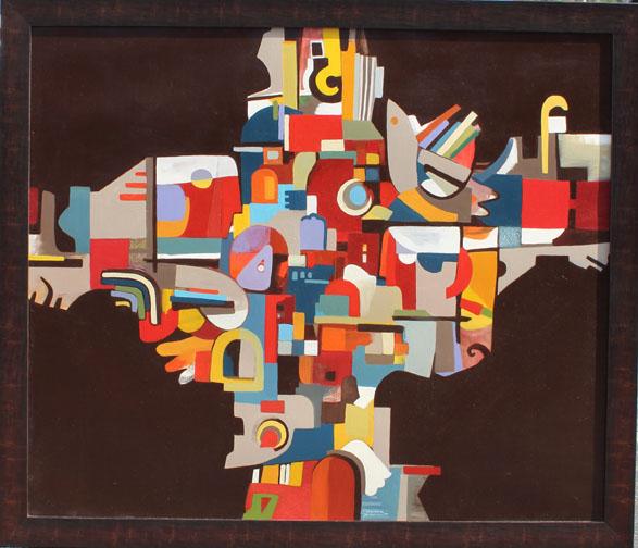 Janet Hagopian , Communities, 57x48 in., oil on canvas